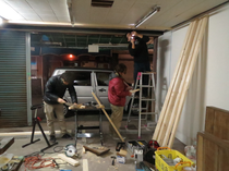 【レポート】工房&展示スペースづくり 11日目